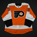 Alt, Mark<br>Orange Set 2 - Game-Issued (GI)<br>Philadelphia Flyers 2017-18<br>#39 Size: 56