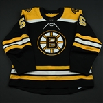 Acciari, Noel<br>Black Set 2<br>Boston Bruins 2017-18<br>#55 Size: 56