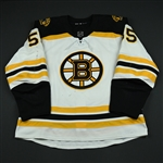 Acciari, Noel<br>White Set 2 <br>Boston Bruins 2017-18<br>#55 Size: 56