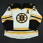 Backes, David<br>White Set 2 w/A<br>Boston Bruins 2017-18<br>#42 Size: 56