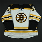 Beleskey, Matt<br>White Set 1 w/ NHL Centennial Patch<br>Boston Bruins 2017-18<br>#39 Size: 56