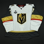 Garrison, Jason<br>White Stanley Cup Final Set 1 - Game-Issued (GI)<br>Vegas Golden Knights 2017-18<br>#7 Size: 58