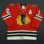 Mikita, Stan *<br>Red w/A - Autographed - PHOTO-MATCHED<br>Chicago Blackhawks 1973-74<br>#21 Size: 46