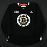 adidas<br>Black Practice Jersey w/ O.R.G. Packaging Patch <br>Boston Bruins 2017-18<br> Size: 56