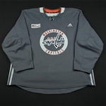 adidas<br>Gray Practice Jersey w/ MedStar Health Patch<br>Washington Capitals 2017-18<br> Size: 58