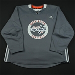 adidas<br>Gray Practice Jersey <br>Washington Capitals 2017-18<br> Size: 58