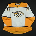 Bonino, Nick<br>White Set 3 / Playoffs<br>Nashville Predators 2017-18<br>#13 Size: 58