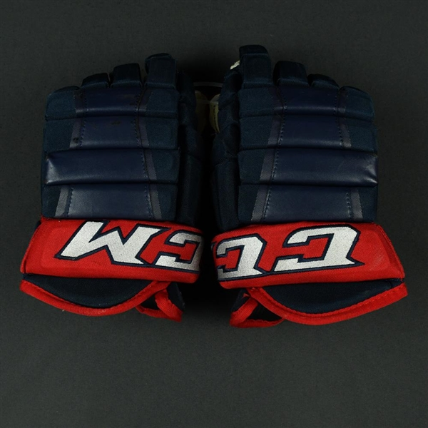 Anderson, Josh<br>CCM HG 97XP Gloves<br>Columbus Blue Jackets 2017-18<br>#77 Size: 14""