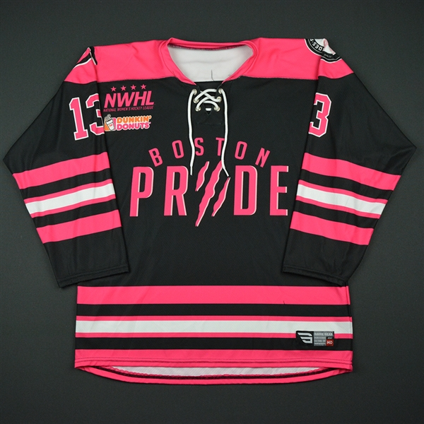 Berman, Lindsay <br>Strides for the Cure - Worn December 3, 2016 vs. Connecticut Whale<br>Boston Pride 2016-17<br>#13 Size: MD