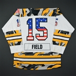 Field, Emily<br>White - Military Appreciation Night<br>Boston Pride 2016-17<br>#15 Size: MD