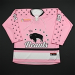 Donohue, Katherine<br>Strides for the Cure (Game-Issued) - January 20, 2018 vs. Connecticut Whale<br>Buffalo Beauts 2017-18<br>#20 Size: MD