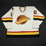 Bure, Pavel *<br>White - Autographed<br>Vancouver Canucks 1993-94<br>#10 Size: 54