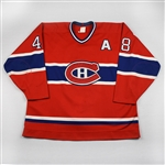 Daigneault, J.J. *<br>Red w/A<br>Montreal Canadiens 1993-94<br>#48 Size: 54