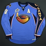 Kovalchuk, Ilya *<br>Blue Set 1 w/A w/All Star Patch (RBK 1.0) - PHOTO-MATCHED<br>Atlanta Thrashers 2007-08<br>#17 Size: 56