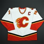 Iginla, Jarome *<br>White Set 1 w/C - PHOTO-MATCHED<br>Calgary Flames 2006-07<br>#12 Size: 58