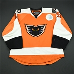 Clackson, Matt *<br>Orange <br>Adirondack Phantoms 2009-10<br>#15 Size: 54