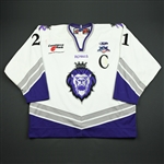 Herneisen, Matt  *<br>White Set 1 w/C and ECHL 20 year patch<br>Reading Royals 2007-08<br>#21 Size: 56