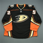 Kase, Ondrej<br>Black - PHOTO-MATCHED To Seven Games<br>Anaheim Ducks 2017-18<br>#25 Size: 58