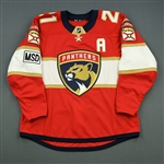 Trocheck, Vincent *<br>Red - Set 3 - w/A and MSD Patch<br>Florida Panthers 2017-18<br>#21 Size: 54