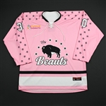 NNOB (No Name On Back)<br>Strides for the Cure (Game-Issued) - January 20, 2018 vs. Connecticut Whale<br>Buffalo Beauts 2017-18<br>#30 Size: XL