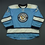 Rupp, Mike *<br>Powder Blue Alternate  - Photo-Matched<br>Pittsburgh Penguins 2009-10<br>#17 Size: 58+
