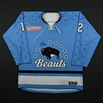 Vint, Rebecca<br>Blue Set 1<br>Buffalo Beauts 2017-18<br>#12 Size: LG