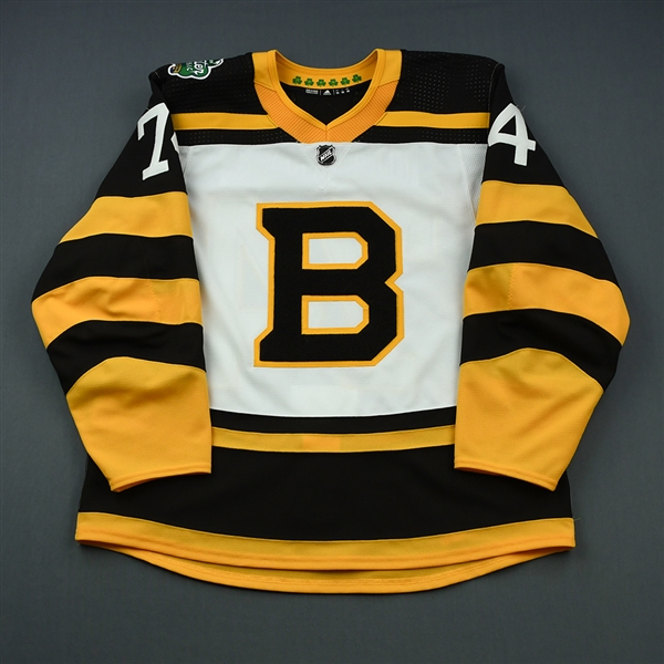 DeBrusk, Jake<br>White - Winter Classic Period 2<br>Boston Bruins 2018-19<br>#74 Size: 56