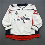 Bowey, Madison <br>White Stanley Cup Final Set 2 - Warm-Up Only - PHOTO-MATCHED<br>Washington Capitals 2017-18<br>#22 Size: 58