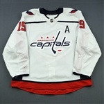 Backstrom, Nicklas<br>White Set 1 w/A<br>Washington Capitals 2018-19<br>#19 Size: 56
