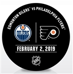 Philadelphia Flyers Warmup Puck<br>February 2, 2019 vs. Edmonton Oilers<br>Philadelphia Flyers 2018-19<br>56