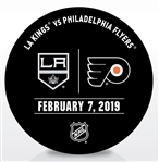 Philadelphia Flyers Warmup Puck<br>February 7, 2019 vs. Los Angeles Kings<br>Philadelphia Flyers 2018-19<br>56