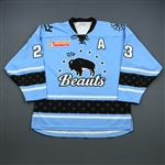Buie, Corinne<br>Blue Set 1<br>Buffalo Beauts 2018-19<br>#23 Size: LG