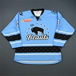 Edney, Sarah<br>Blue Set 1<br>Buffalo Beauts 2018-19<br>#3 Size: LG