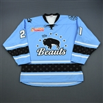 Fonfara, Meghan<br>Blue Set 1 - One Game Only (November 17, 2018 at Boston Pride)<br>Buffalo Beauts 2018-19<br>#21 Size: LG