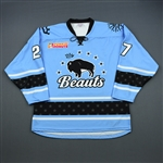 Juron, Jordan<br>Blue Set 1<br>Buffalo Beauts 2018-19<br>#27 Size: LG