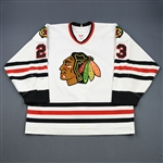 Vandermeer, Jim *<br>White - Photo-Matched<br>Chicago Blackhawks 2006-07<br>#23 Size: 56