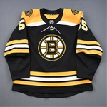 Acciari, Noel<br>Black Set 1<br>Boston Bruins 2018-19<br>#55 Size: 56