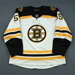 Acciari, Noel<br>White Set 1<br>Boston Bruins 2018-19<br>#55 Size: 56