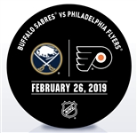 Philadelphia Flyers Warmup Puck<br>February 26, 2019 vs. Buffalo Sabres<br>Philadelphia Flyers 2018-19<br>58