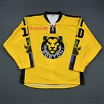 Johnson, Kaliya<br>Yellow You Can Play (Game-Issued) - February 2, 2019 vs. Connecticut Whale<br>Boston Pride 2018-19<br>#10 Size: MD