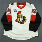 Duchene, Matt *<br>White w/ Global Series and NHL Centennial Patch - Photo-Matched<br>Ottawa Senators 2017-18<br>#95 Size: 56