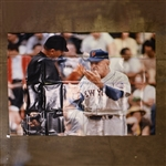 Stengel, Casey *<br>Casey Stengel Arguing With Umpire, Gate Lobby Banner Single-Sided (shipping included)<br>Shea Stadium <br> Size: 120 x 88