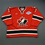 Niedermayer, Scott *<br>Red - World Cup of Hockey<br>Team Canada 2004<br>#27 Size: 56