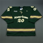 Lucyk, Luke  *<br>Green Alternate - w/A removed<br>University of Notre Dame 2008-09<br>#20 Size: L