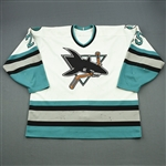 Kozlov, Viktor<br>White - Photo-Matched<br>San Jose Sharks 1996-97<br>#25 Size: 56
