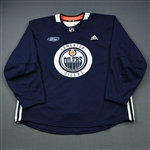 adidas<br>Navy Practice Jersey w/ Ford Patch <br>Edmonton Oilers 2018-19<br># Size: 58+