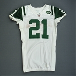 Tomlinson, LaDainian *<br>White AFC Playoffs - Worn 1/16/2011 vs. New England Patriots - Photo-Matched<br>New York Jets 2010<br>#21 Size: 44