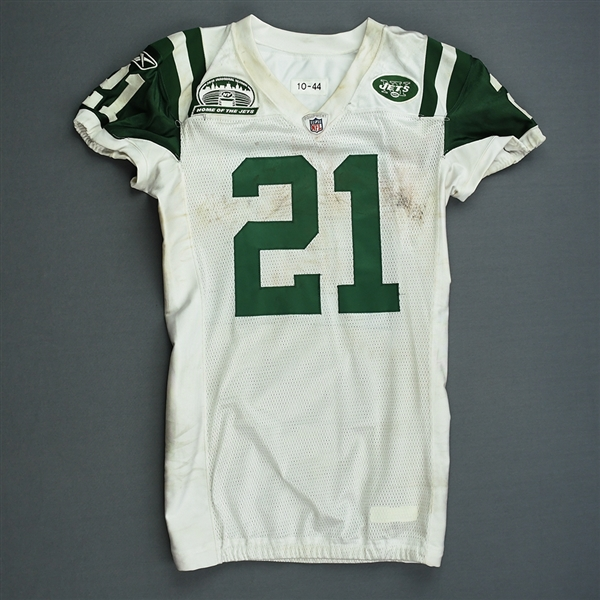 Tomlinson, LaDainian *<br>White - w/ 2010 Stadium Inaugural Season Patch - worn 9/13/10 vs. Baltimore -  New Meadowlands Stadium Inaugural Game - Photo-Matched<br>New York Jets 2010<br>#21 Size: 44