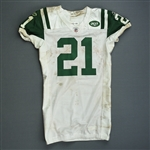 Tomlinson, LaDainian *<br>White -  worn 12/26/10 vs. Chicago - Jersey and Pants - Photo-matched<br>New York Jets 2010<br>#21 Size: 44