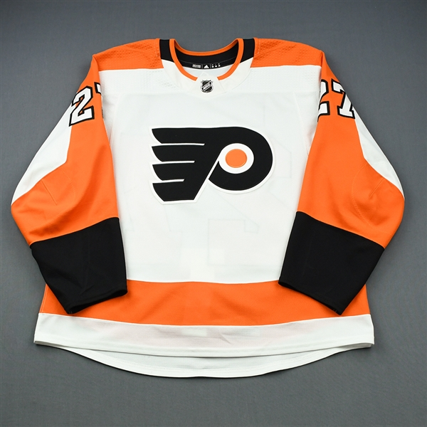 Bailey, Justin<br>White Set 3<br>Philadelphia Flyers 2018-19<br>#27 Size: 56